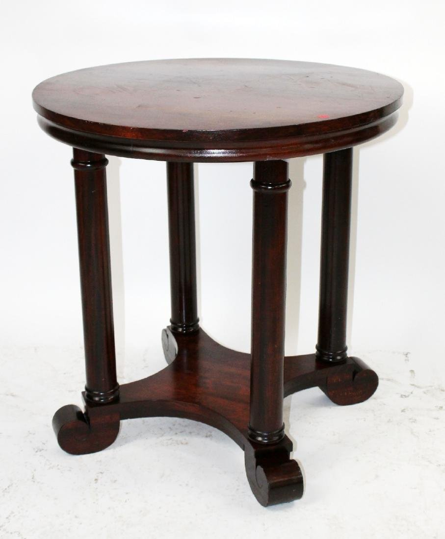 American Empire mahogany round side table - 3