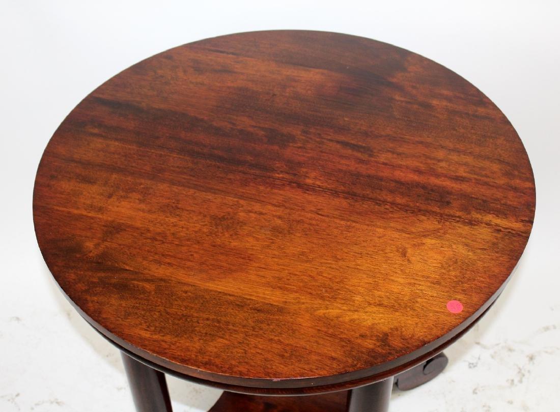 American Empire mahogany round side table - 5