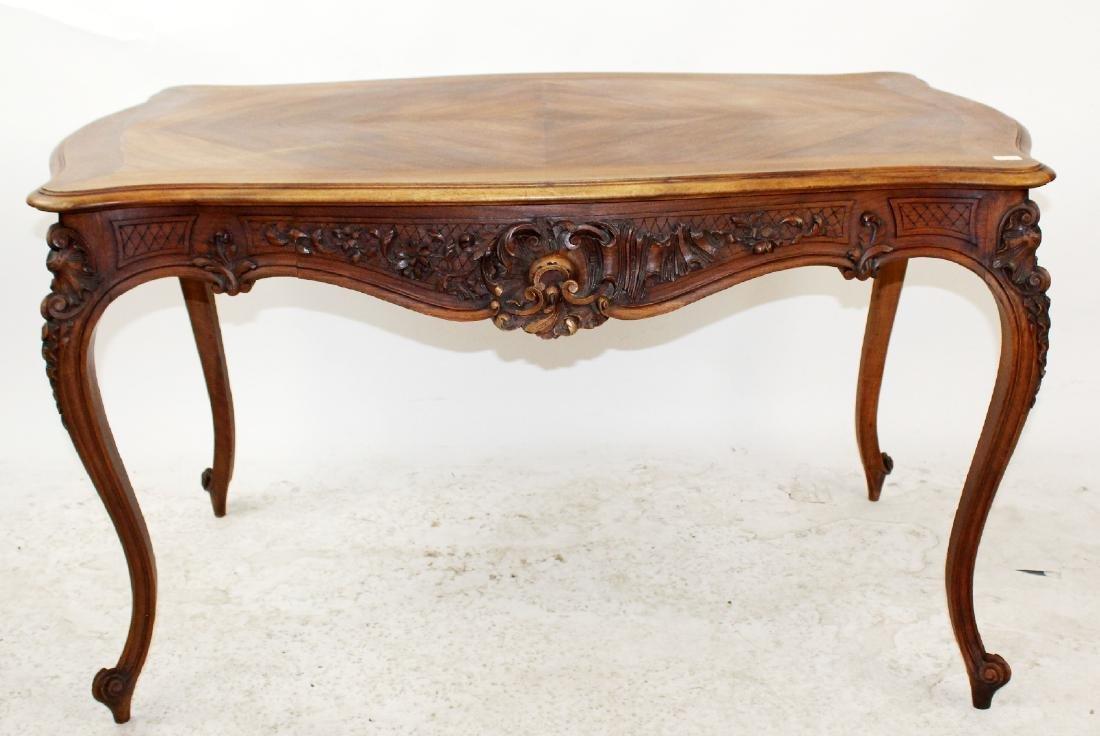 French Louis XV style walnut desk
