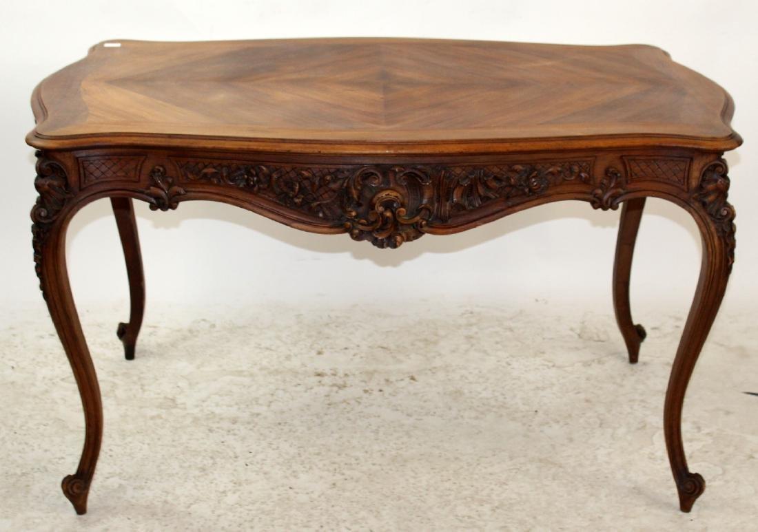 French Louis XV style walnut desk - 2