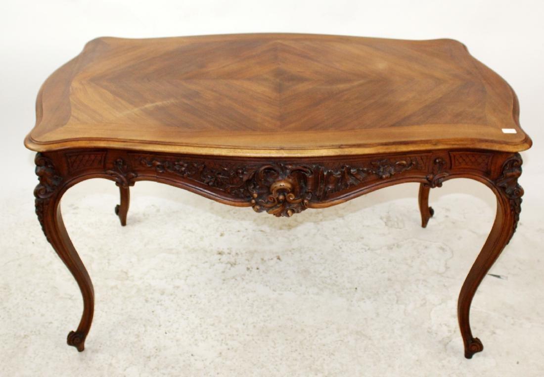 French Louis XV style walnut desk - 3