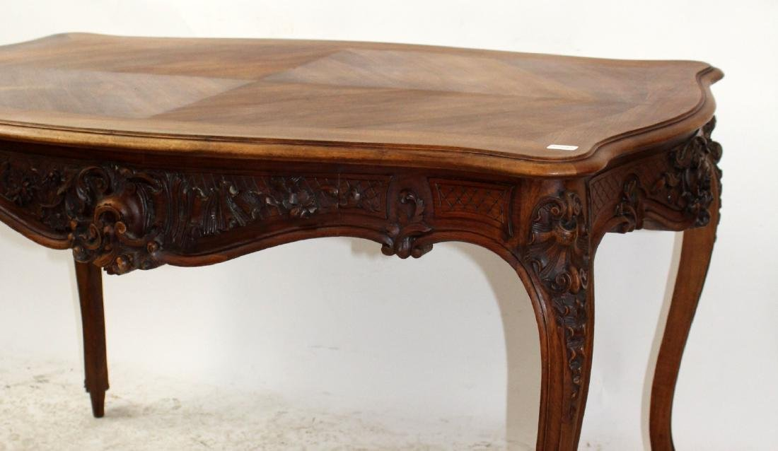French Louis XV style walnut desk - 4