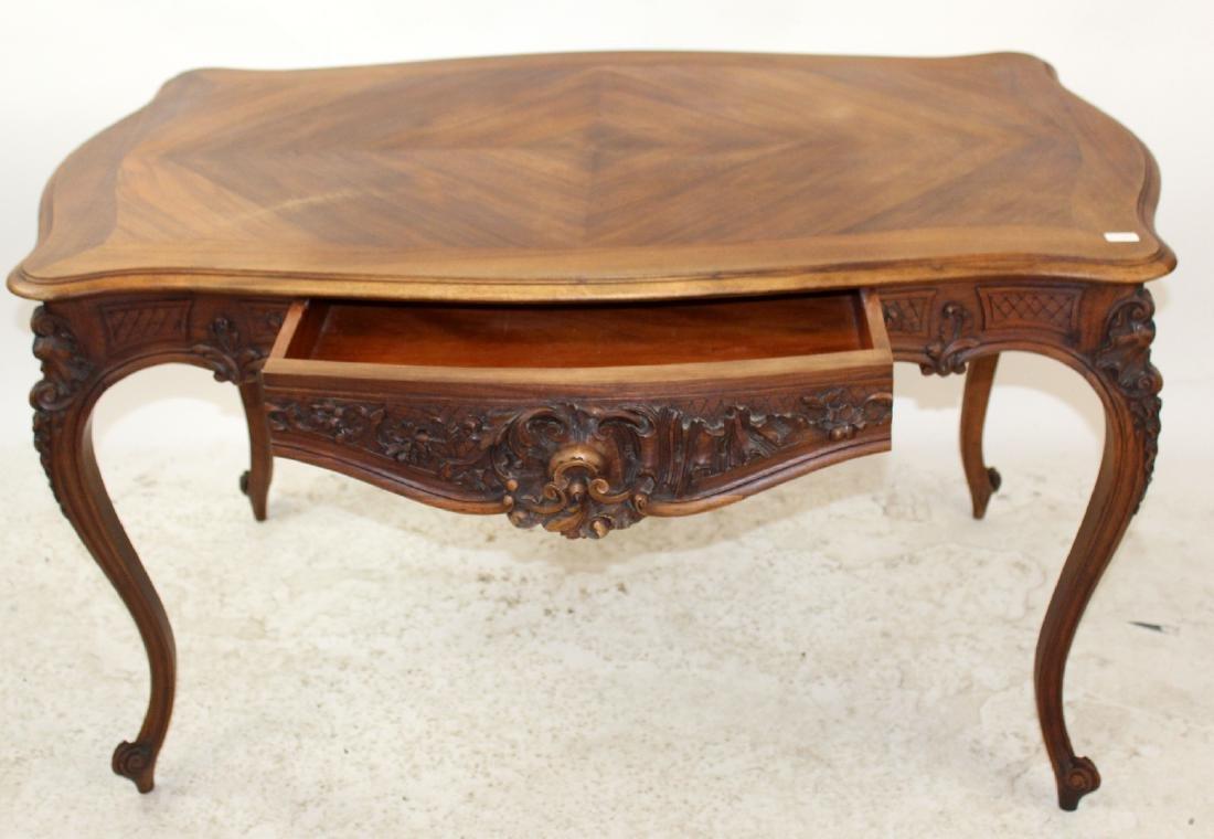 French Louis XV style walnut desk - 5