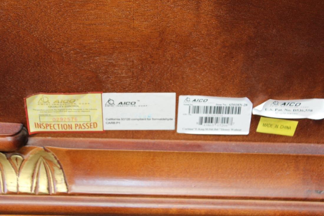 Michael Amini mahogany king size sleigh bed - 2