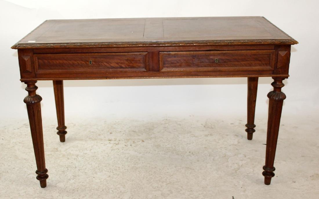 French walnut bureauplat desk