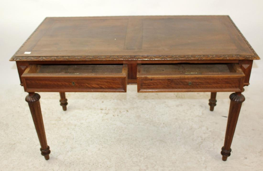 French walnut bureauplat desk - 2