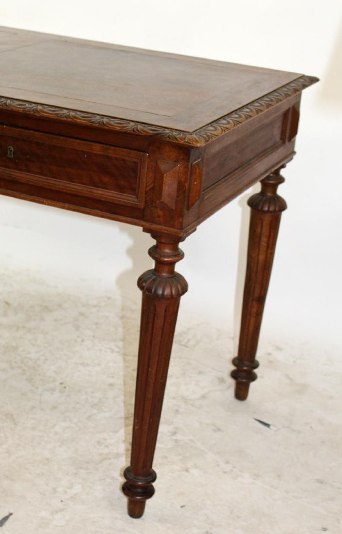 French walnut bureauplat desk - 3