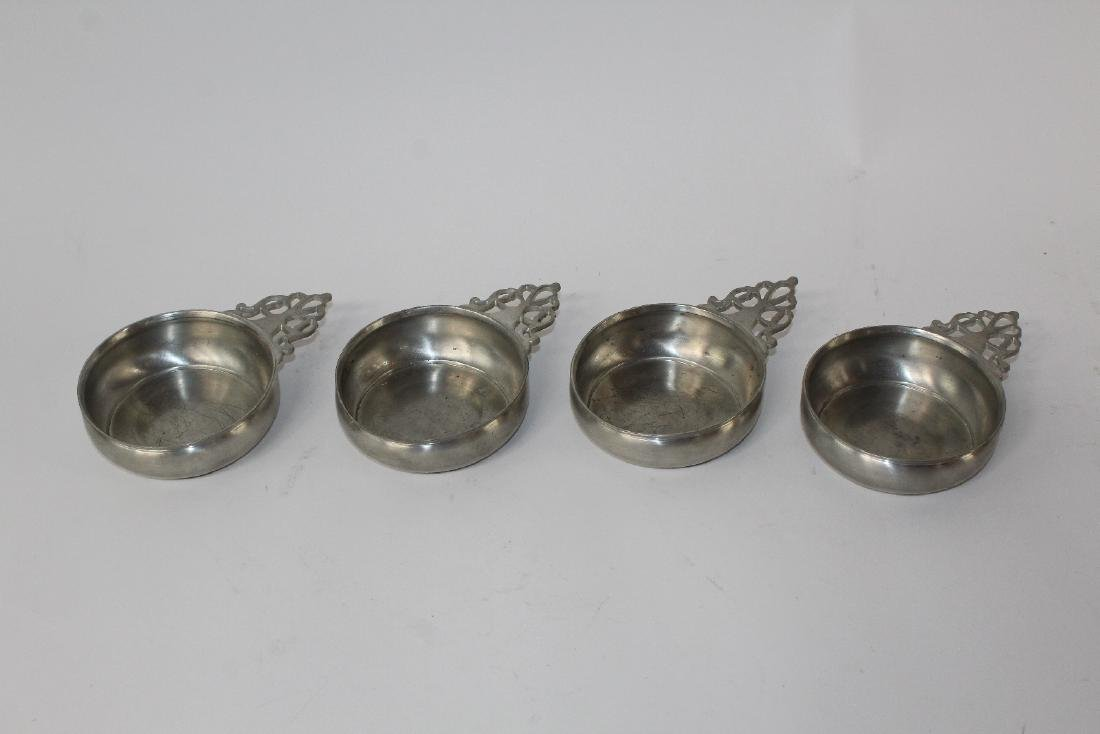 Set of 4 Towle pewter dessert bowls