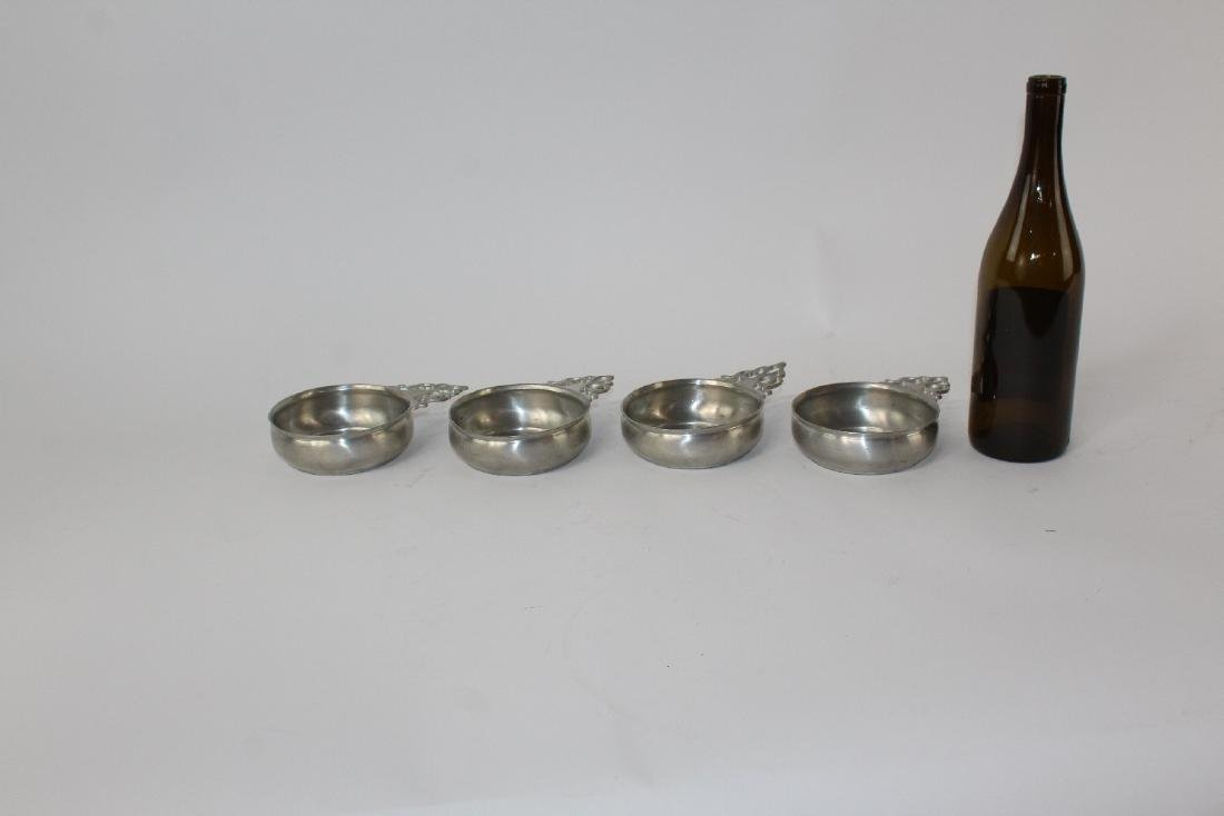 Set of 4 Towle pewter dessert bowls - 4