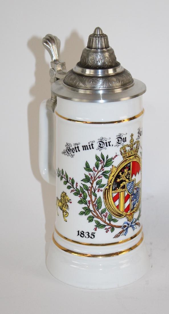 ALWE German beer stein with pewter lid