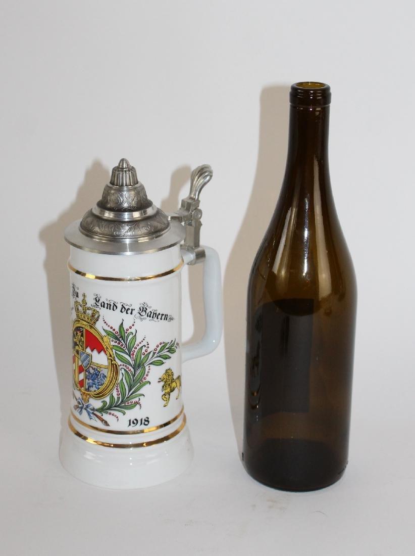 ALWE German beer stein with pewter lid - 2