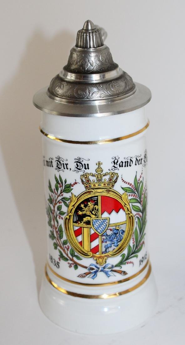 ALWE German beer stein with pewter lid - 3