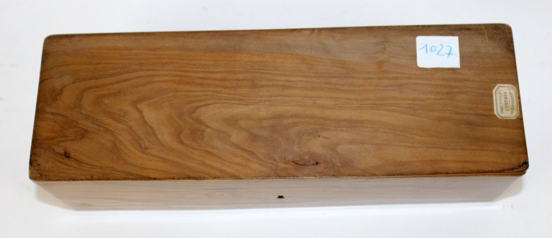 Antique French olivewood glove box - 6