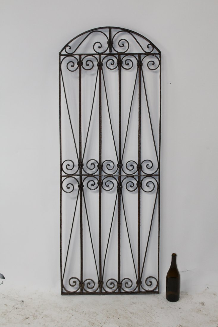 Wrought iron dome top panel