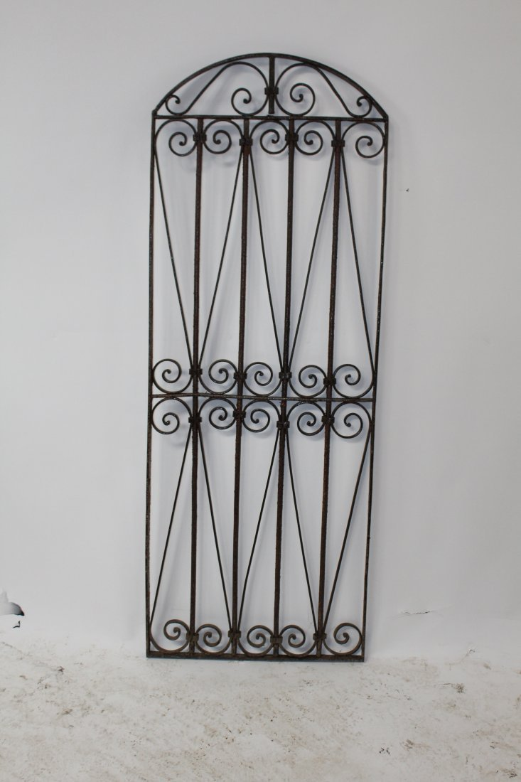Wrought iron dome top panel - 2