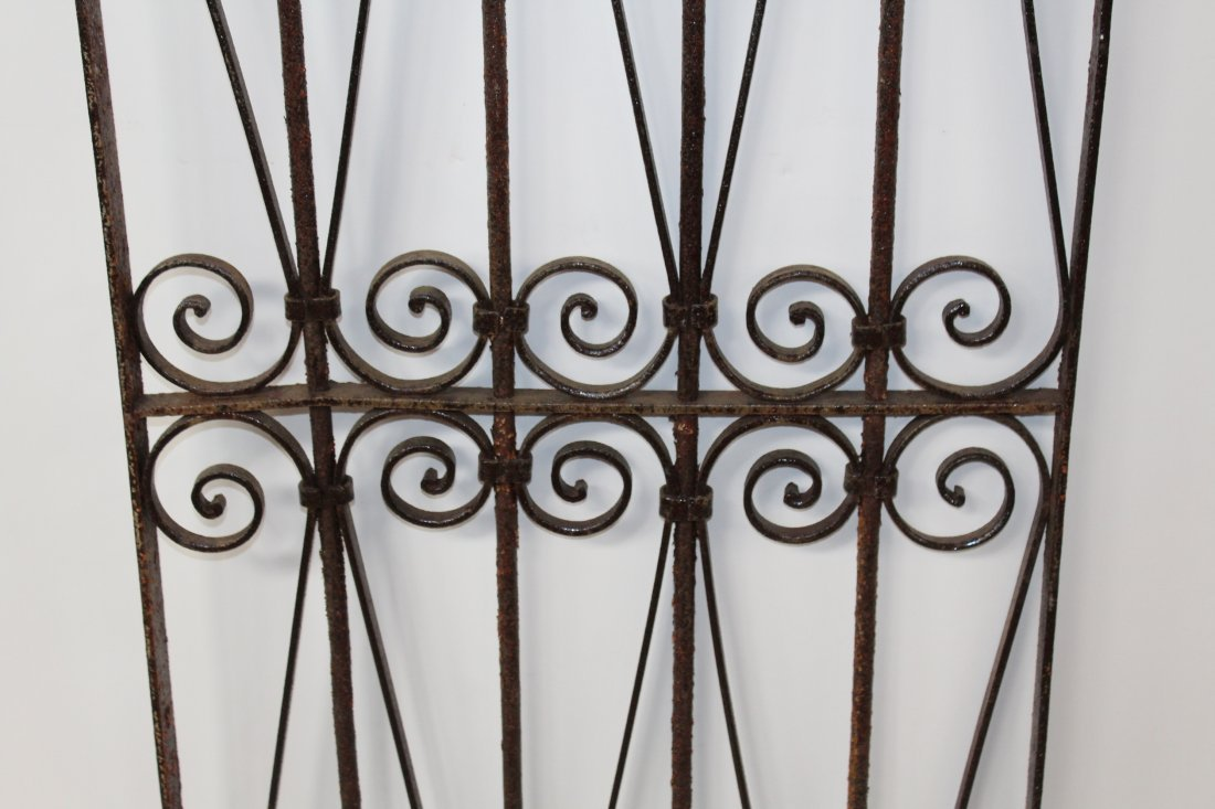 Wrought iron dome top panel - 4