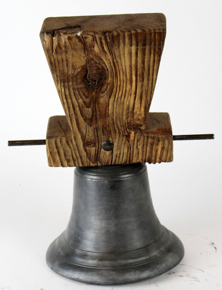 Antique French cast iron bell