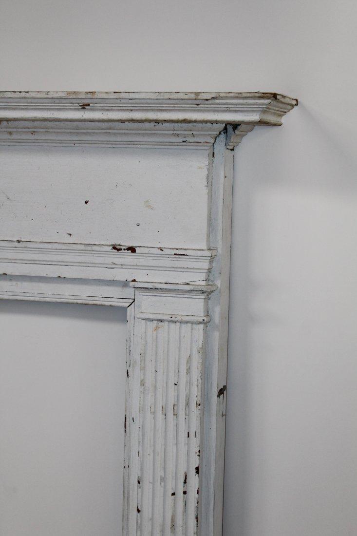 American painted pine fireplace mantel surround - 5