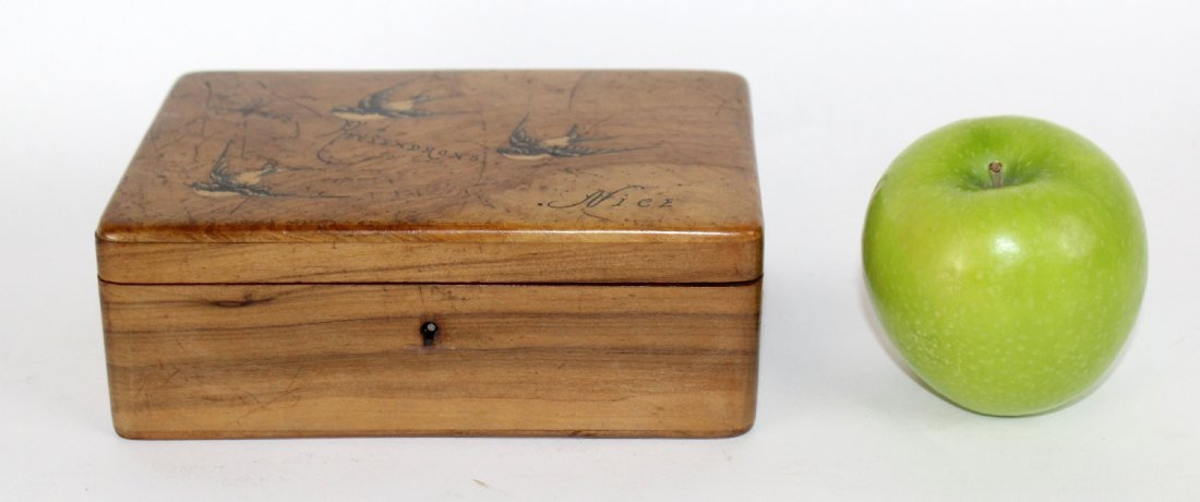 Antique French olivewood dresser box