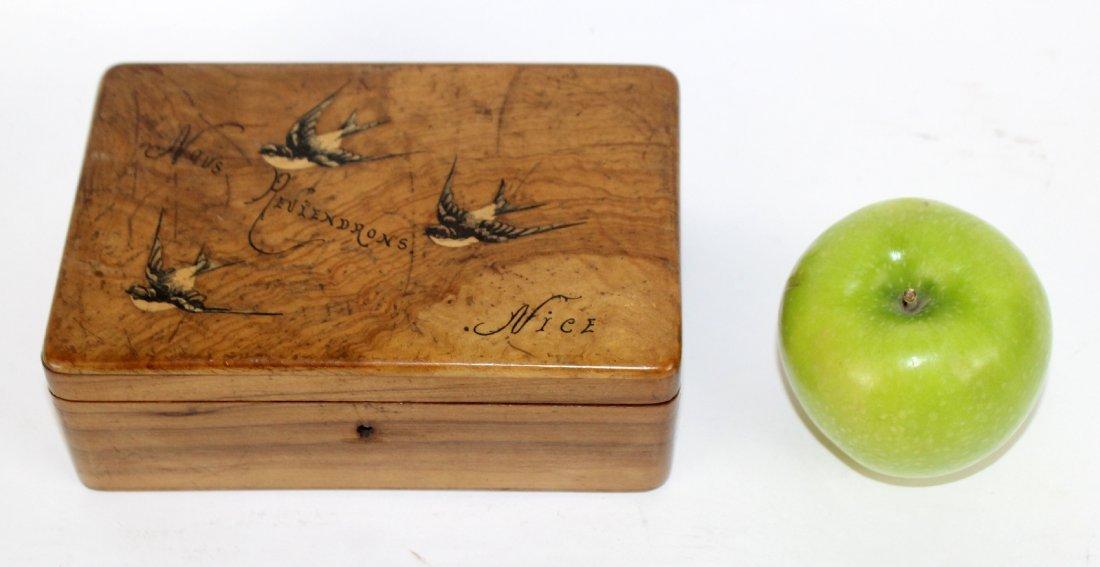 Antique French olivewood dresser box - 2