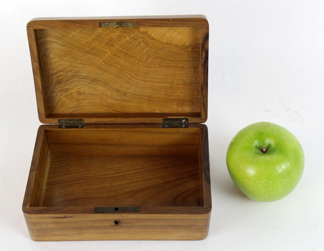 Antique French olivewood dresser box - 3