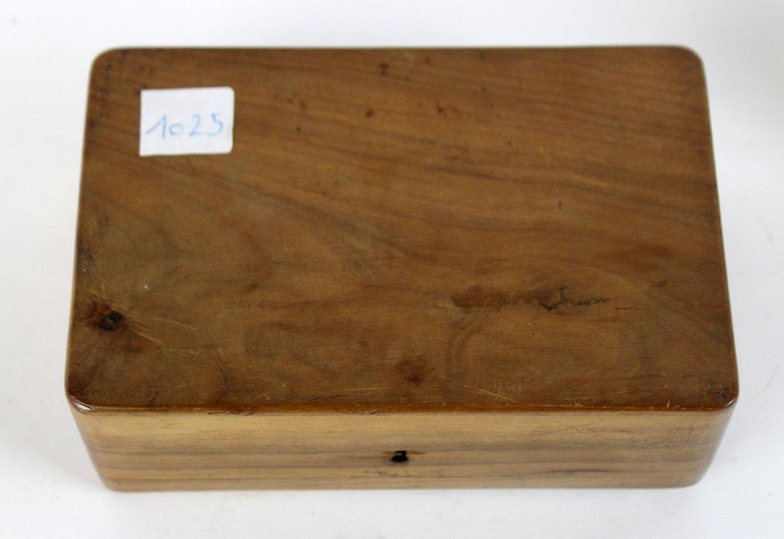 Antique French olivewood dresser box - 4
