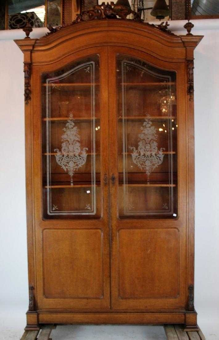 Italian hunt motif 2 door bookcase