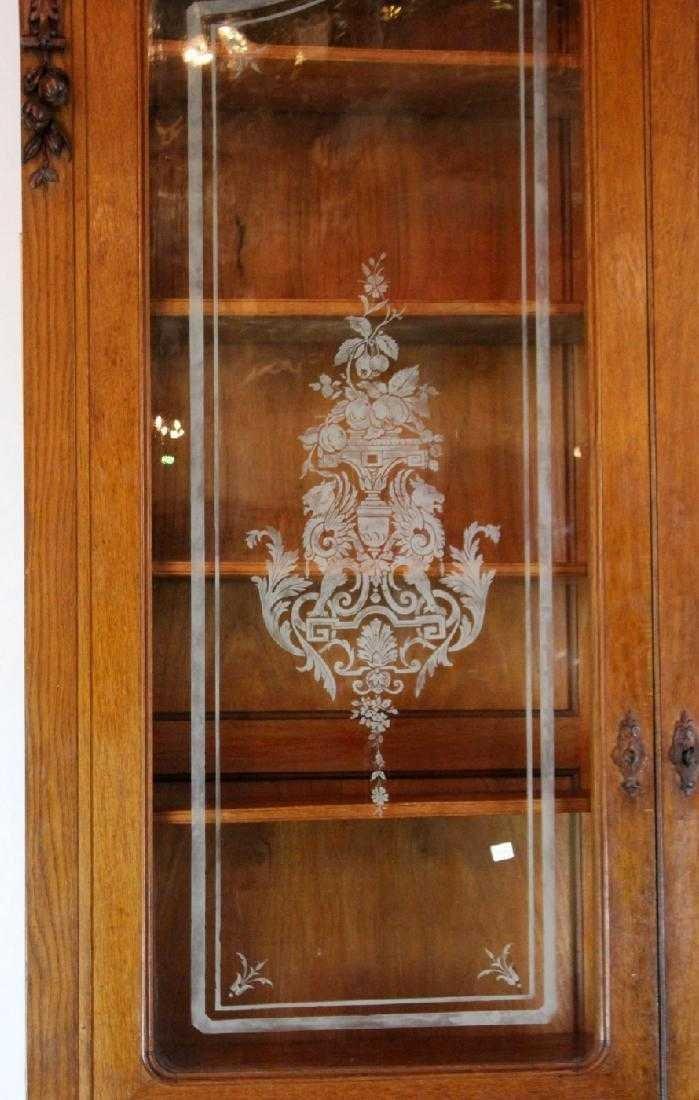Italian hunt motif 2 door bookcase - 2