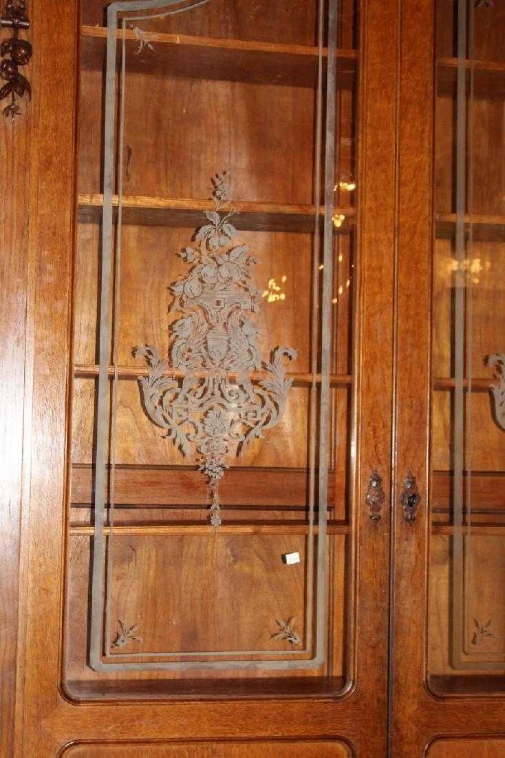 Italian hunt motif 2 door bookcase - 3