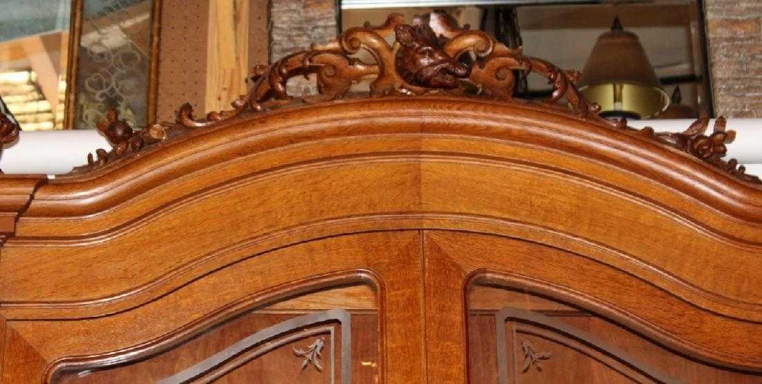 Italian hunt motif 2 door bookcase - 4