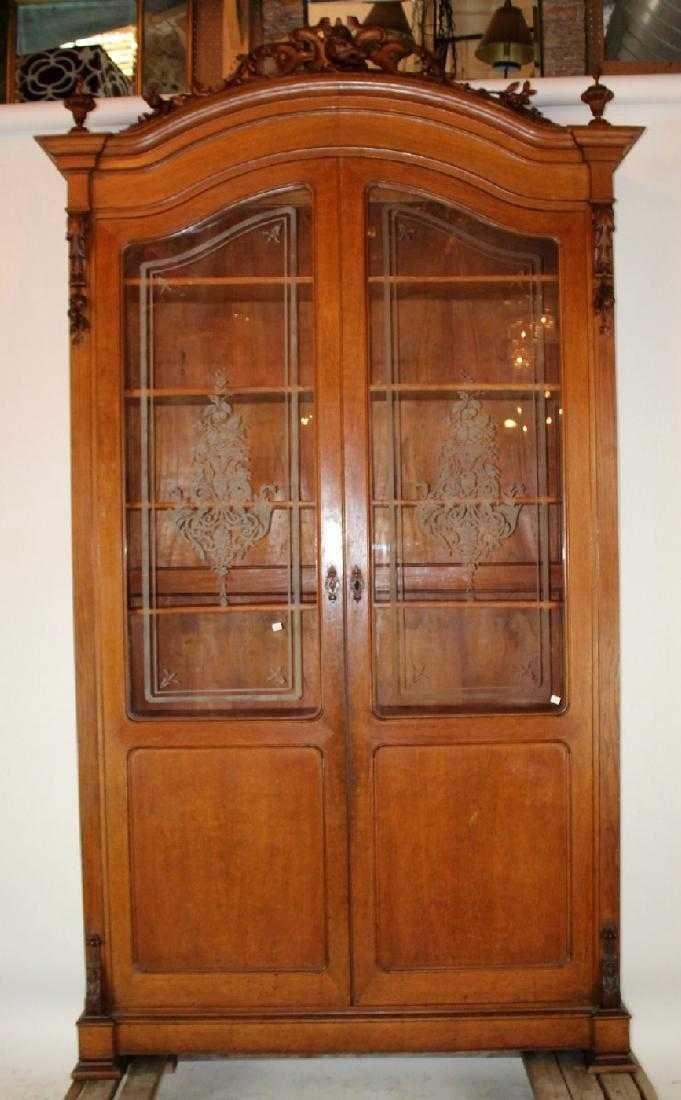 Italian hunt motif 2 door bookcase - 7