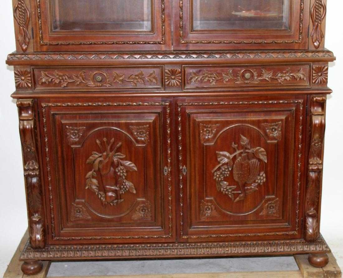 Louis XIII style carved mahogany gun cabinet - 2