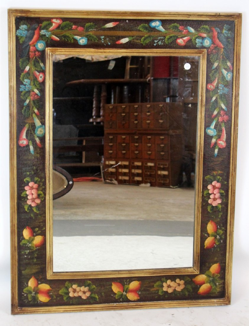 Maitland Smith style painted mirror