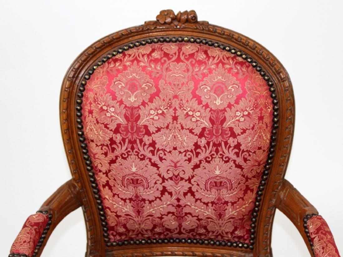 Louis XVI style armchair - 4