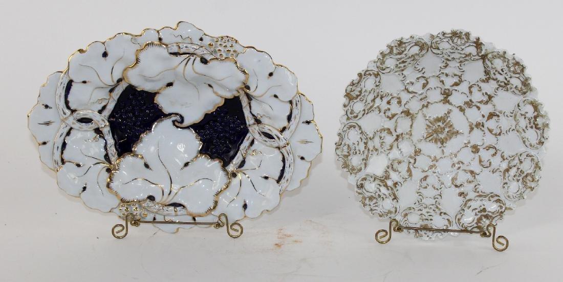 Lot of 2 Meissen porcelain 19th century plates