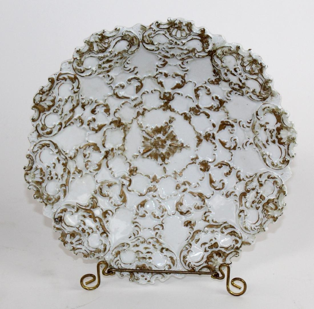 Lot of 2 Meissen porcelain 19th century plates - 2