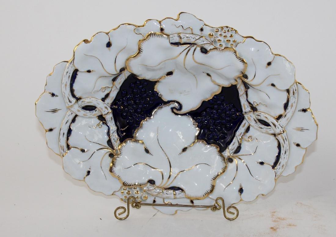 Lot of 2 Meissen porcelain 19th century plates - 3