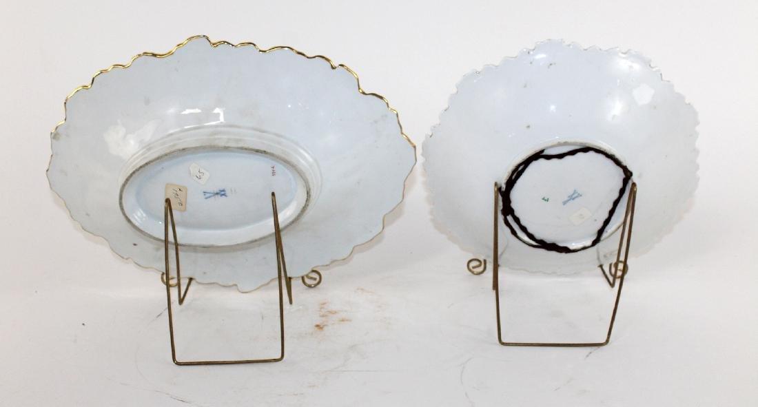 Lot of 2 Meissen porcelain 19th century plates - 4