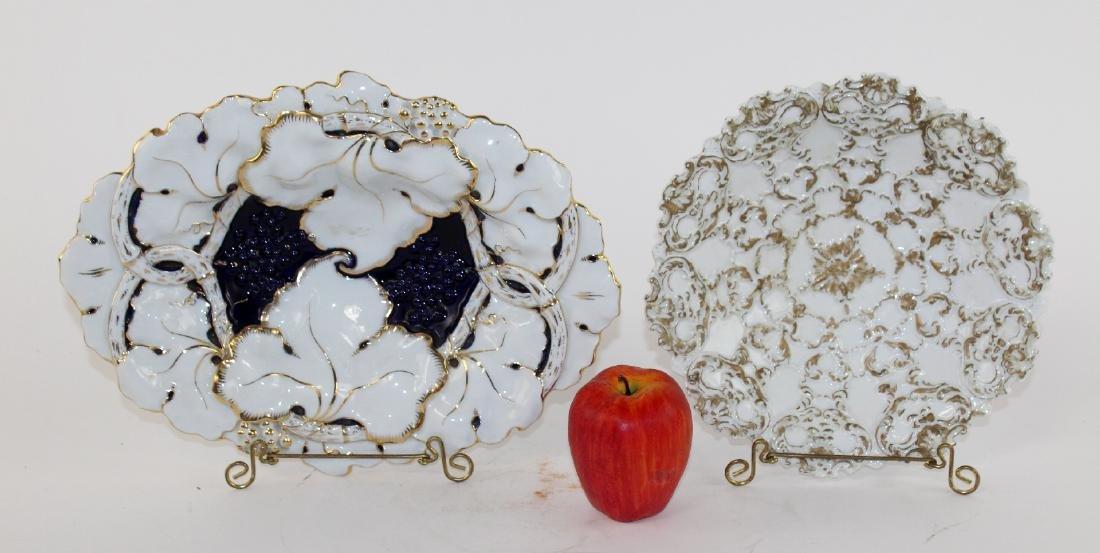Lot of 2 Meissen porcelain 19th century plates - 5