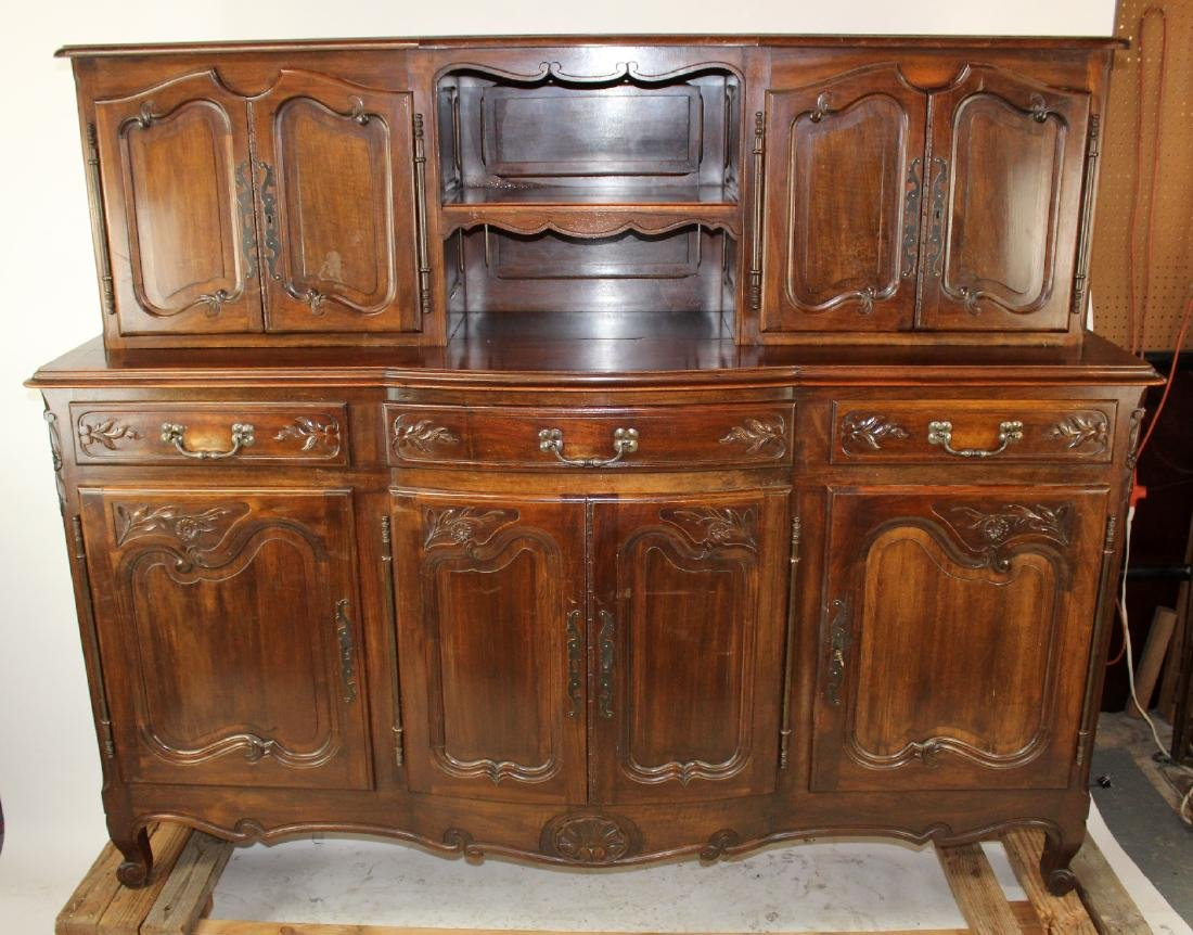 French Provincial buffet in walnut