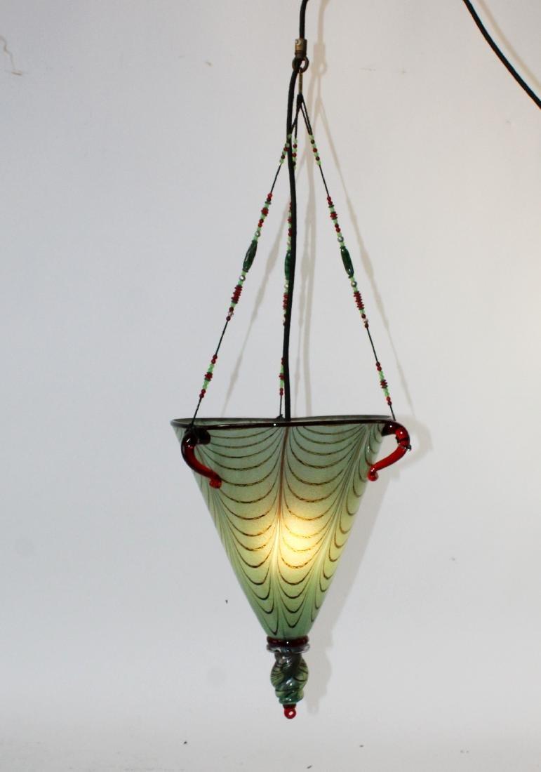 Ogetti Art Glass pendant light on beaded string