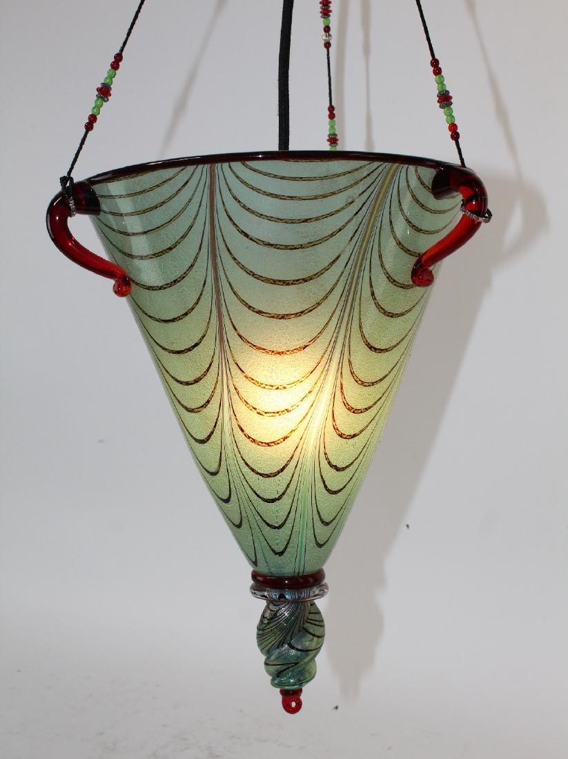 Ogetti Art Glass pendant light on beaded string - 3
