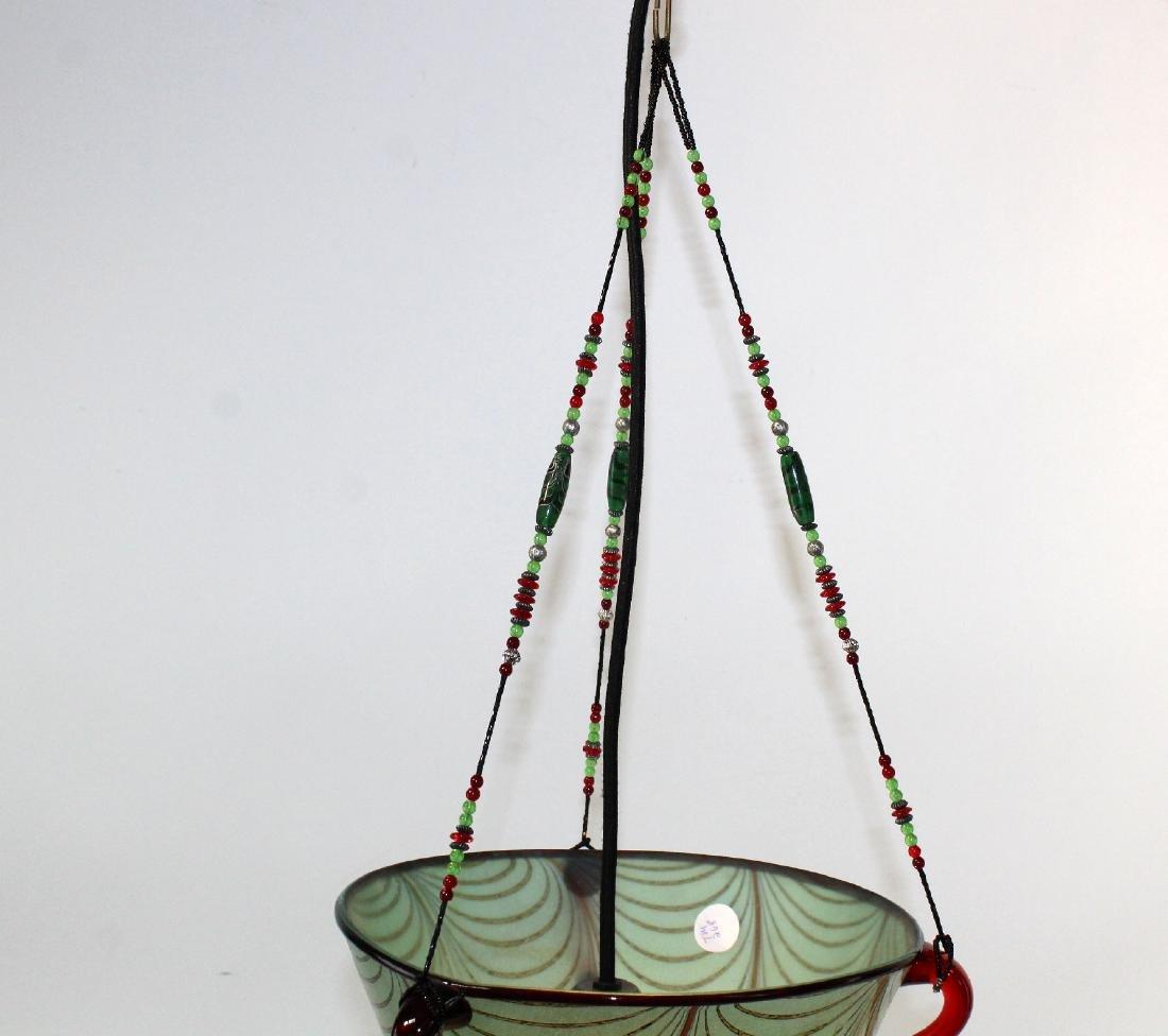 Ogetti Art Glass pendant light on beaded string - 4