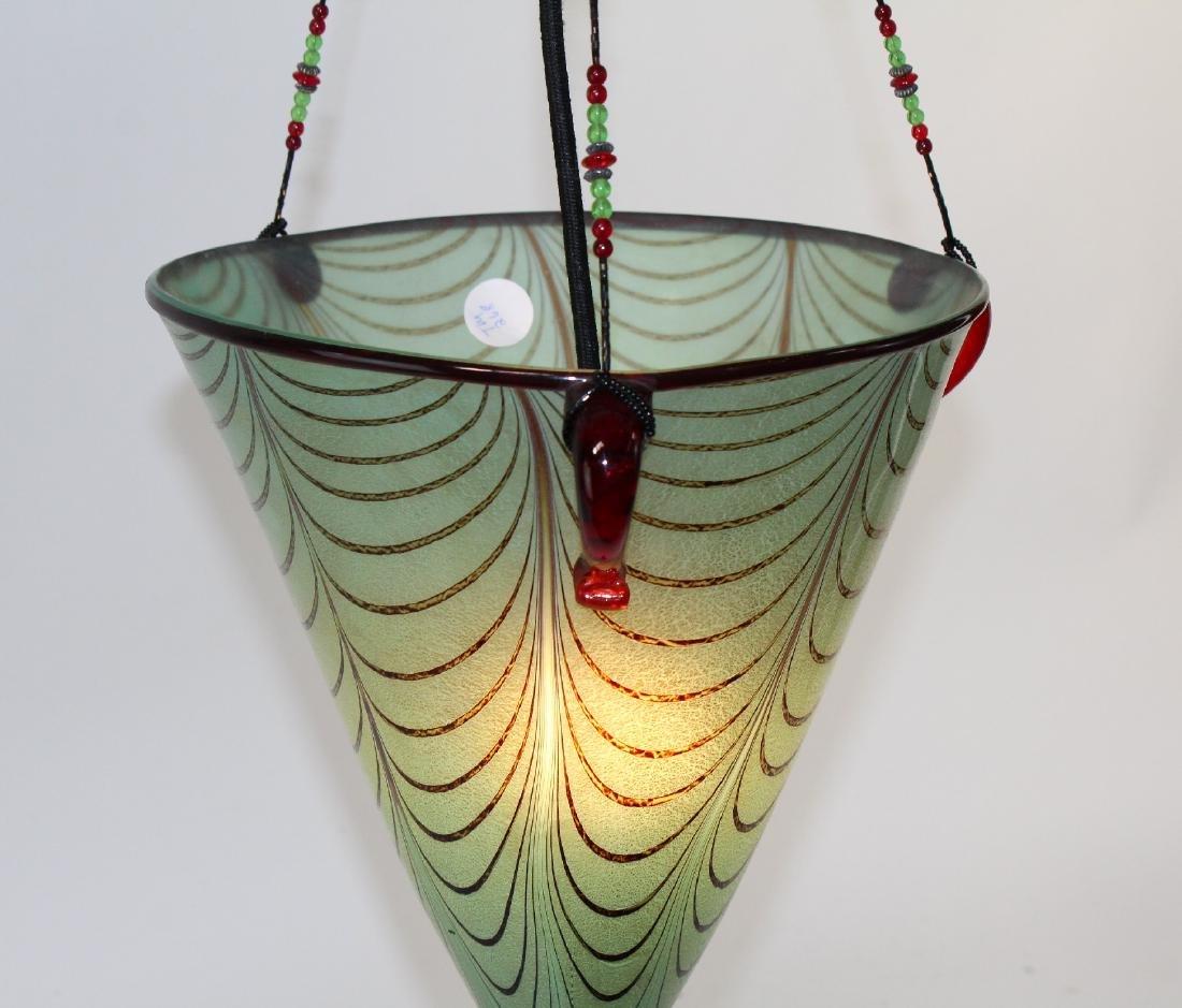 Ogetti Art Glass pendant light on beaded string - 5