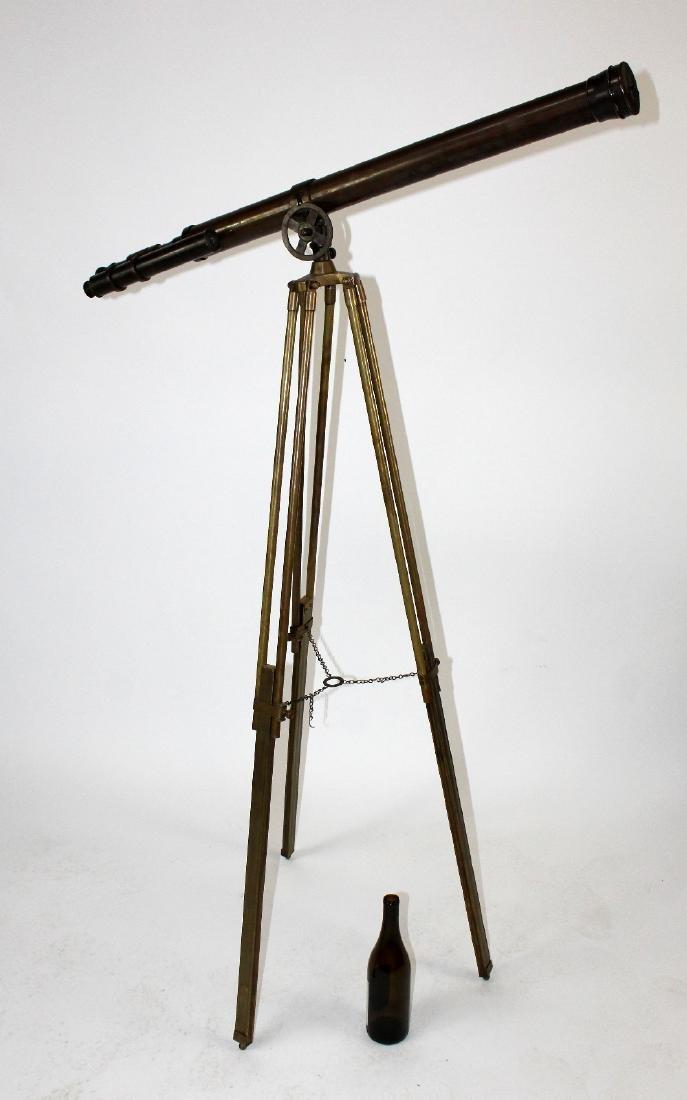 Brass telescope on tripod stand - 2