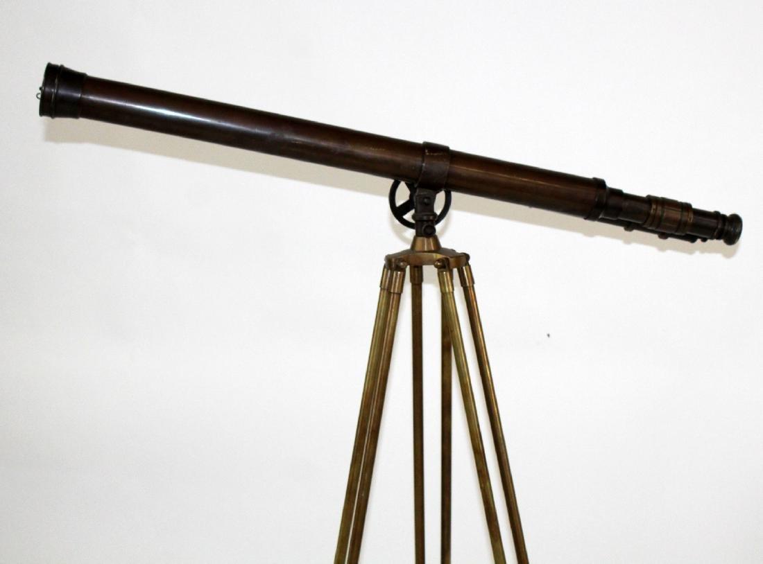 Brass telescope on tripod stand - 5