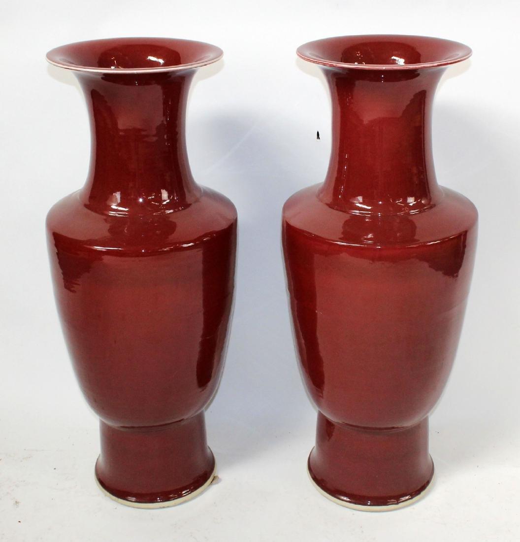 Pair of H. Moog porcelain glazed urns - 3
