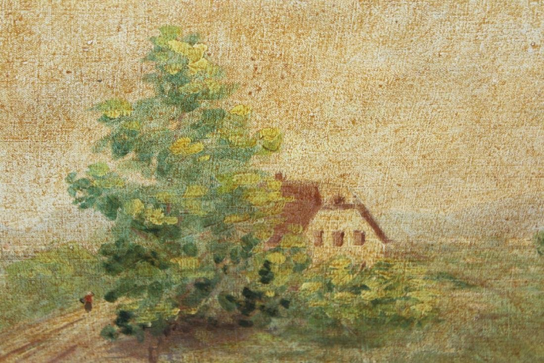 French oil on canvas pastoral landscape - 3