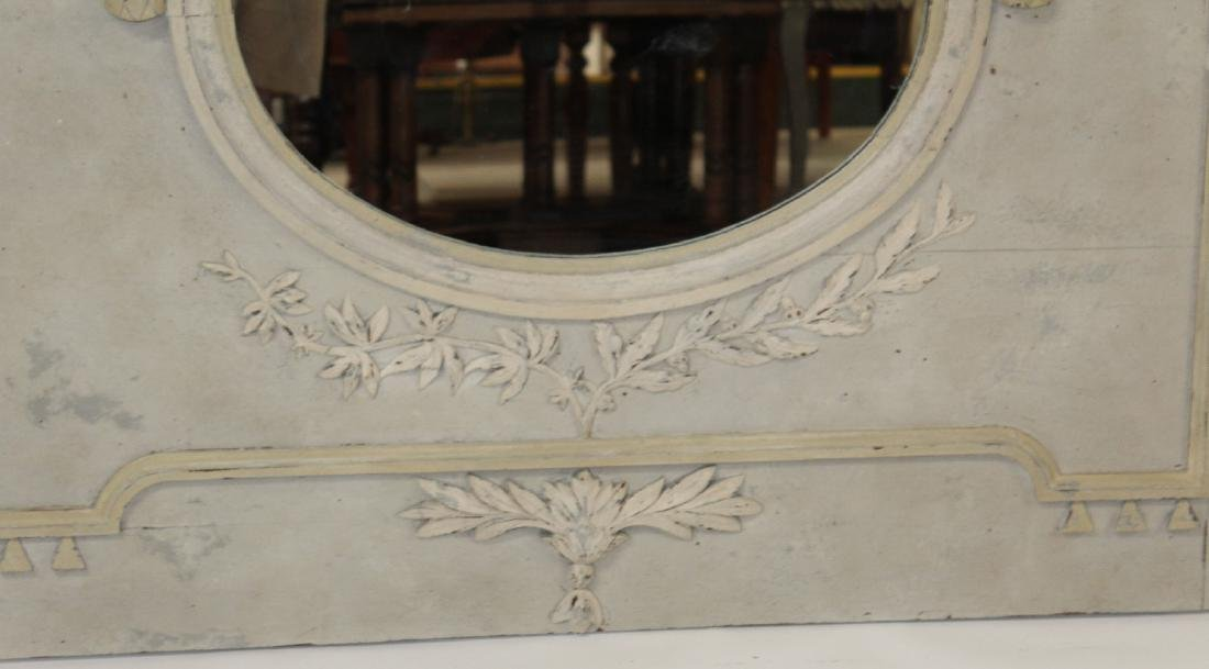 French Louis XVI painted trumeau mirror - 4