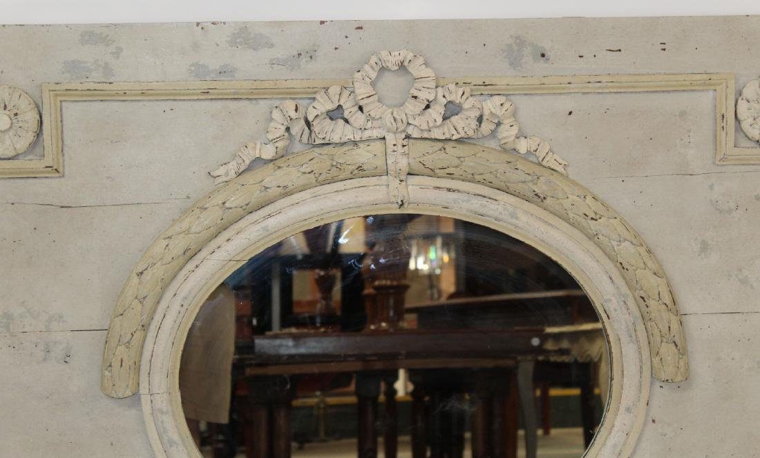 French Louis XVI painted trumeau mirror - 5